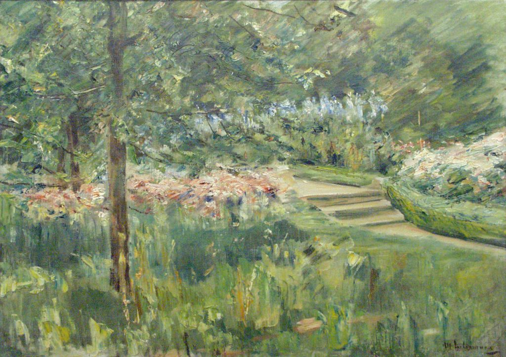 "Max Liebermann's ""Garden in Wannsee,"" 1923 (photo credit: Courtesy of the Israel Museum, Jerusalem)"