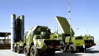 A Russian S-300 anti-aircraft missile system on display in an undisclosed location in Russia (photo credit: AP)