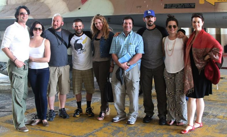 The latest group of actors visiting Israel with America's Voices in Israel (Courtesy AVI)
