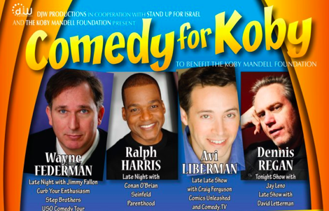 The four comedic faces of the Comedy for Koby show (Courtesy Comedy for Koby)