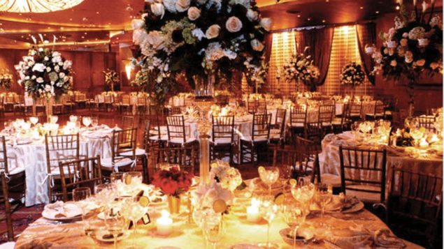The banquet hall at the Woodbury Jewish Center. Photo courtesy Morrell Caterers
