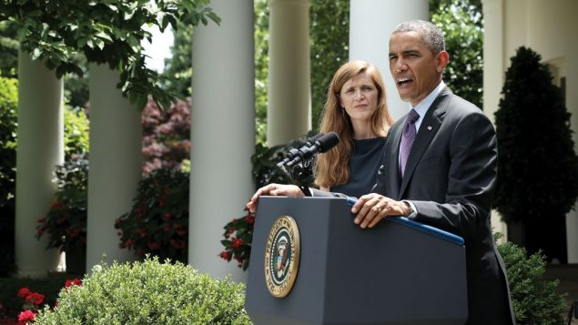 Samantha Power, left, President Obama's nominee as UN ambassador. Getty Images