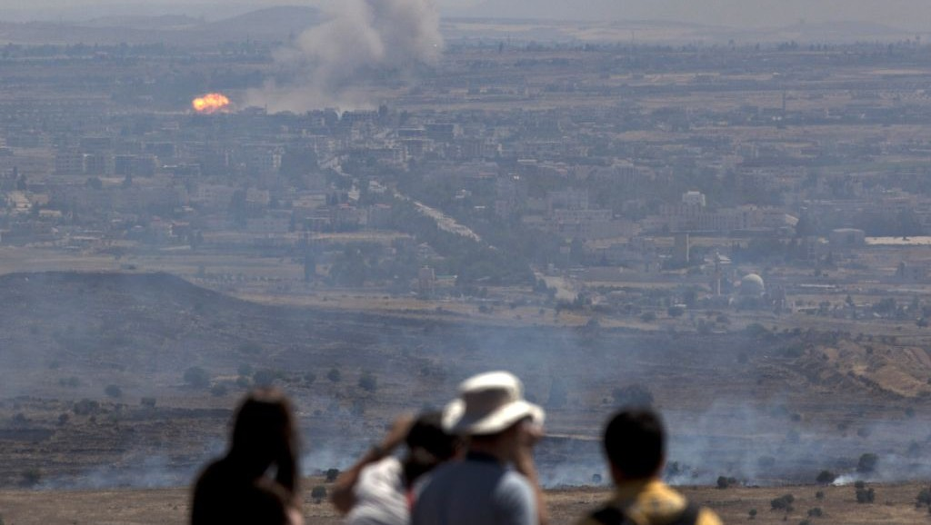 Explosions heard in Golan Heights | The Times of Israel