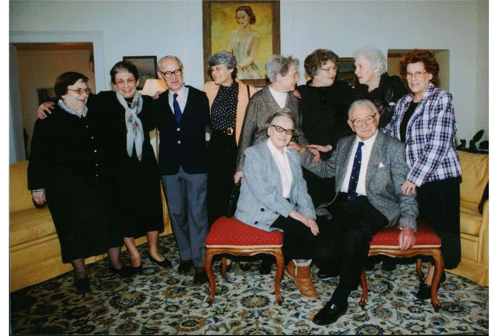 Sir Nicholas Winton with some of the rescued 'children.' (photo credit: Courtesy of Menemsha Films)