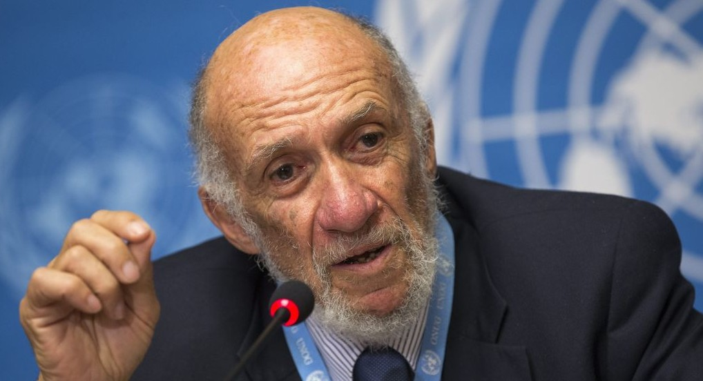 Richard Falk (photo credit: AP/Keystone/Salvatore Di Nolfi/File)