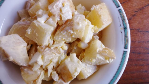 A tangy potato salad is a great picnic side dish. Amy Spiro