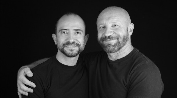 Traian Popov (left) and Julian Marsh. Marsh is the first married gay American to successfully petition for a green card for his spouse. (photo credit: Courtesy of the DOMA Project/Dennis Dean)