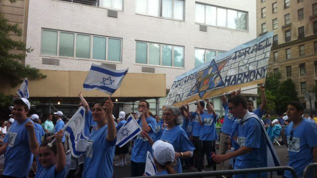 Blue was everybody's favorite color at the Celebrate Israel Parade on Sunday. Chavie Lieber