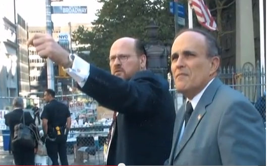 Image from Lhota campaign video shows him with former boss Rudy Giuliani.