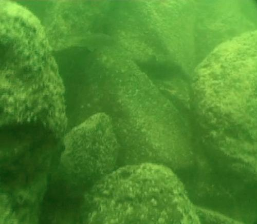 The underwater structure discovered in the Sea of Galilee