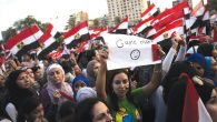 At an opposition rally in Cairo this week. Getty Images