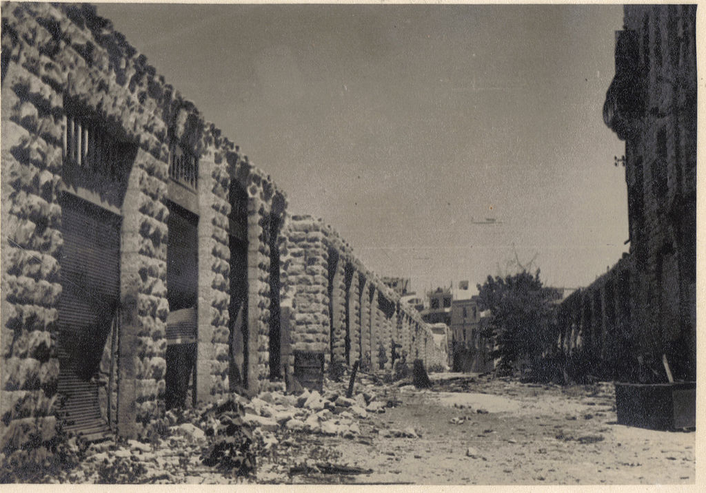 The ruins of Mamilla in 1949 (photo credit: Moshe Canari/Wikimedia Commons)