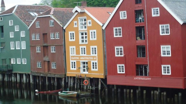 Trondheim's old wharves along the Nidelva River. Hilary Larson