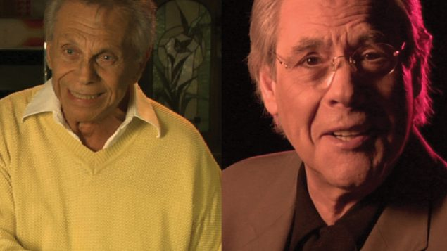 "Mountains men: ""When Comedy Went to School"" narrator Robert Klein, above. Left, Mort Sahl."