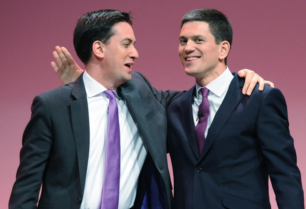 Ed Miliband (left) with his brother David.