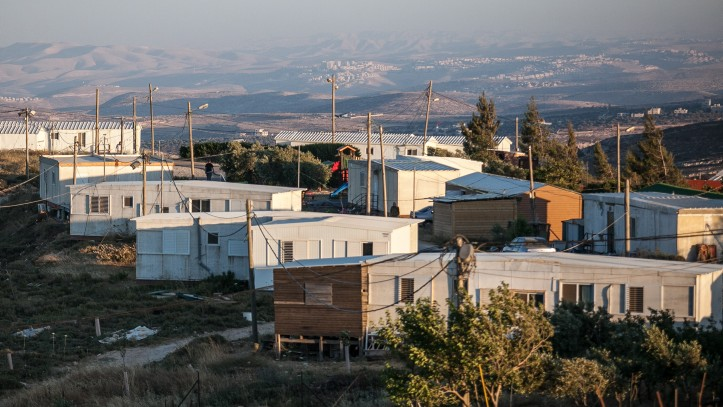 Amona, the largest outpost in the West Bank, which was established in 1997. (photo credit: Noam Moskowitz/Flash90, File)