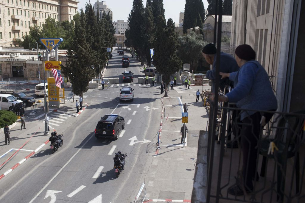 Heads of state, such as US President Barack Obama, whose motorcade is shown here, usually stay at the King David (photo credit: Nati Shochat/Flash 90)
