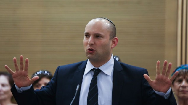 Naftali Bennett in the Knesset, July 30, 2013. (photo credit: Yonatan Sindel/Flash90)
