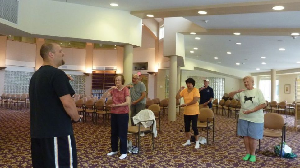 No more fall guys: A Tai Chi class at Commack assisted living facility. Gurwin Jewish