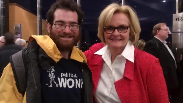 Kenneth Kalman and one of the senators from his homestate of Missouri, Claire McCaskill