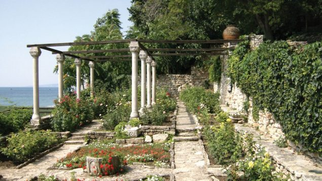 The botanical gardens surrounding the former palace of Queen Marie of Romania in Balchik. Hilary Larson