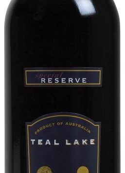 Teal Lake Reserve Shiraz offers a full-bodied red wine at a moderate price.