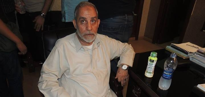 Mohammed Badie after his arrest last month in a picture posted by the Egyptian Interior Ministry. (Photo credit: Egyptian Interior Ministry via Facebook)