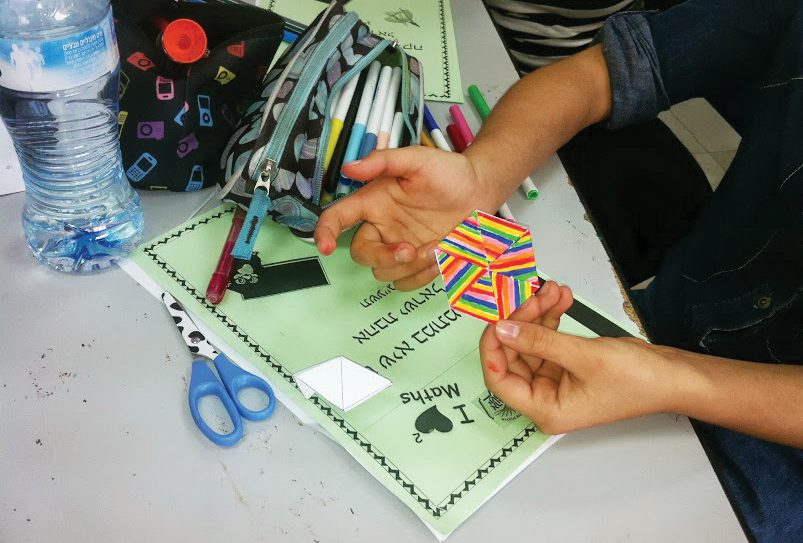 Israeli school children try out some of the activities on the Kita bePita educational website. Photo courtesy Kita bePita