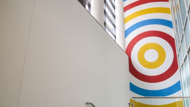 """So LeWitt's """"Wall Drawing #599,"""" on view at the JCC in Manhattan. Photo courtesy JCC in Manhattan"""
