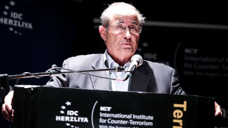 Former Mossad chief Shabtai Shavit, September 2013 (photo credit: IDC/Adi Cohen Zedek)