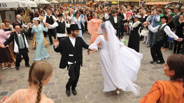 Jewish spirit, if not actual Jews, was on full display at LvivKlezFest. Getty Images