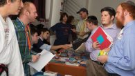 Applicants at Yachad's job fair for people with disabilities explore employment opportunities last week. Sam Ulrich