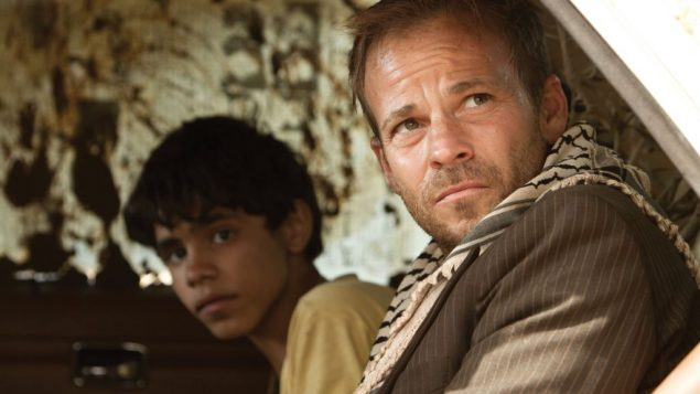"Abdallah El Akal and Stephen Dorff in ""Zaytoun."""