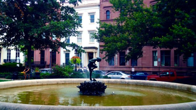 A fountain in the stately Mount Vernon section of Baltimore, home to the Peabody Institute. Hilary Larson