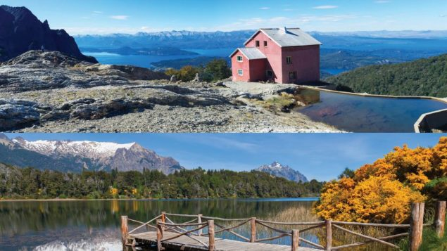 Refugio Laguna Negra, in Bariloche, above. Bottom, a Patagonian lake. Photos courtesy Argentina Tourism