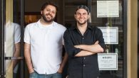 Evan Bloom, left and Wise Sons Deli co-owner Leo Beckerman.