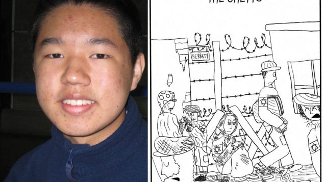 Christopher Huh's graphic novel about the Holocaust includes such topics as Jewish life in pre-war Europe.