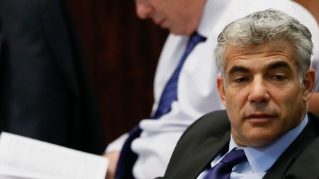 Finance Minister Yair Lapid in the Knesset on July 29, 2013. (photo credit: Miriam Alster/FLASH90)