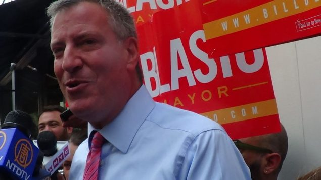 Bill de Blasio took a pass on Syria and said he'd work well with the state Legislature. Adam Dickter