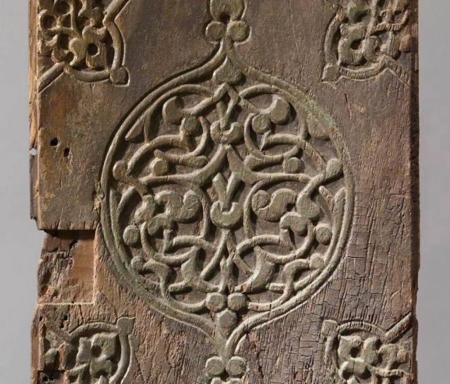 A detail from the elaborately decorated Ben Ezra Synagogue door. Photo courtesy YU Museum