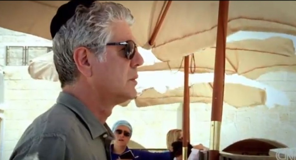 Anthony Bourdain in Israel (photo credit: YouTube screenshot)