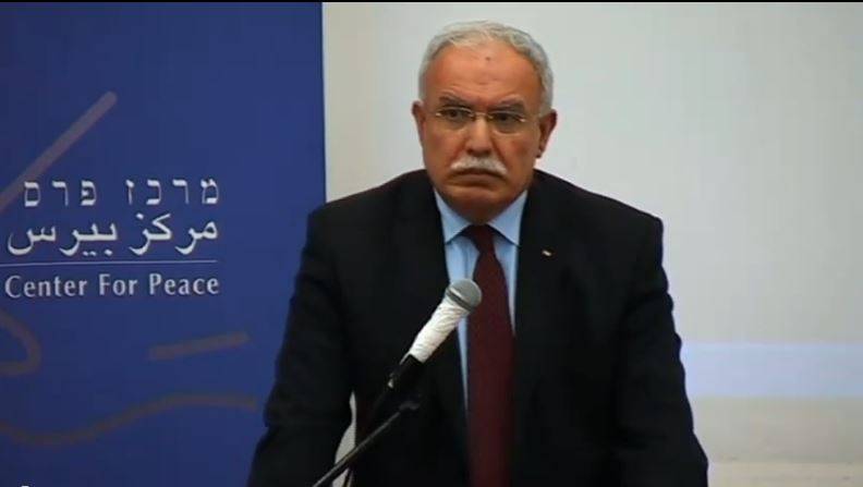 Palestinain Authority Foreign Minister Riyad Al-Malki, March 22, 2011. (screen capture: Youtube/PeresCenter)