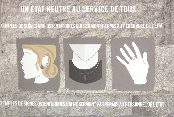 Image released by the Government of Quebec outlining what would be allowed and what wouldn't be allowed in the public sphere. (Photo credit: Government of Quebec)