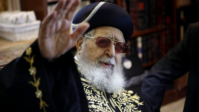 Rabbi Yosef: Statements about Arabs and other non-Jews offended many. Getty Images