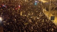 Hundreds of thousands of Orthodox Israelis crowded Jerusalem streets for the funeral of Rabbi Ovadia Yosef. Getty Images