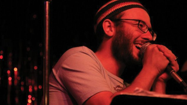 Marmer, in mid-linguistic riff: Improvising like a jazz man. Photo courtesy Jake Marmer/Andy Ingall
