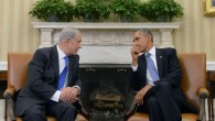 President Barack Obama and Prime Minister Benjamin Netanyahu hold a meeting in the Oval Office of the White Hou