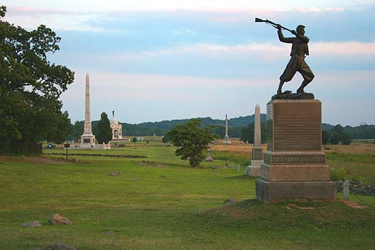 The High Water Mark of the Confederacy at the Gettysburg National Military Park (photo credit: Robert Swanson, Wikimedia Commons)