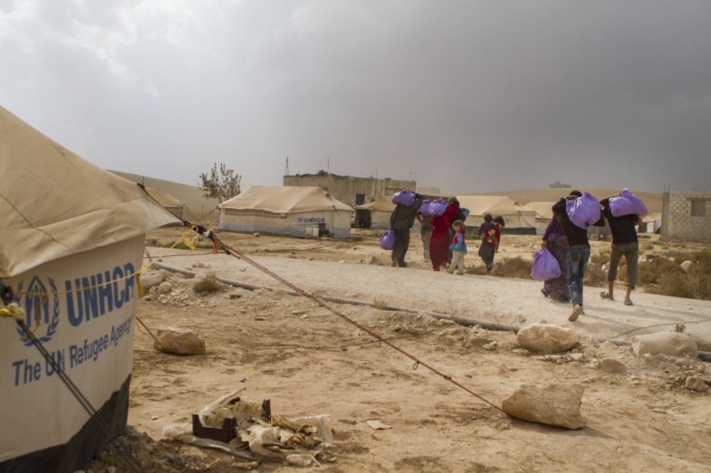 The refugee camp near Al-Mafraq. (photo credit: Mickey Alon)