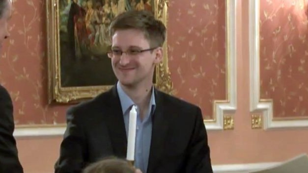 Former National Security Agency systems analyst Edward Snowden in Russia, October 11, 2013 (photo credit: AP)